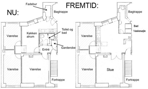 badeværelse plantegning Helt nyt badeværelse i gammel ejendom   Lav det selv.dk badeværelse plantegning