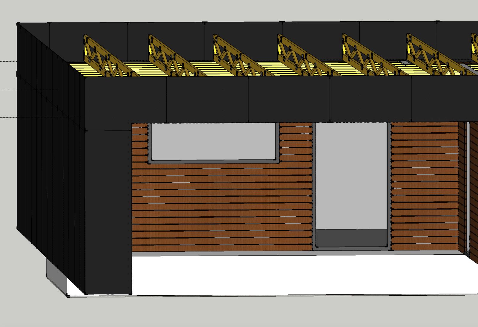 Tagkonstruktion - Fladt tag 1:40 - Dimensionering m.m.